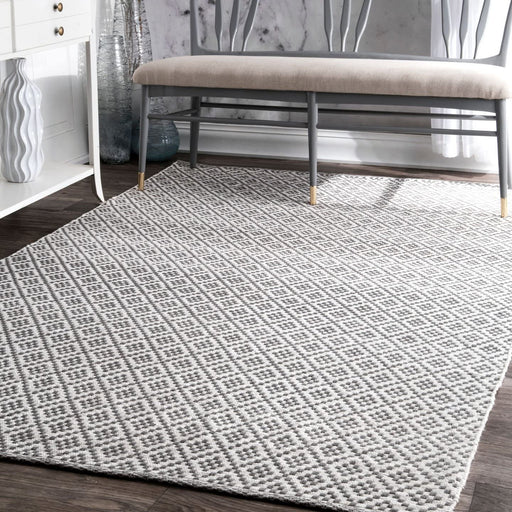 nuLOOM Natalie Diamond Trellis Area Rug, 9' x 12', Grey