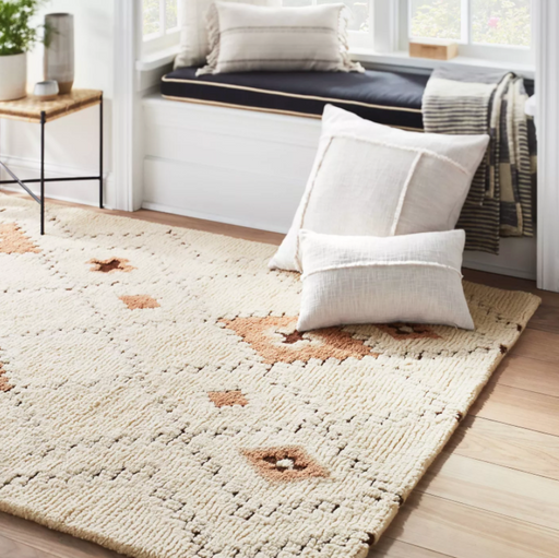 Size 7'x10' Northridge Hand-Tufted Wool Shag Diamond Area Rug Beige/Brown - Threshold™ designed with Studio McGee