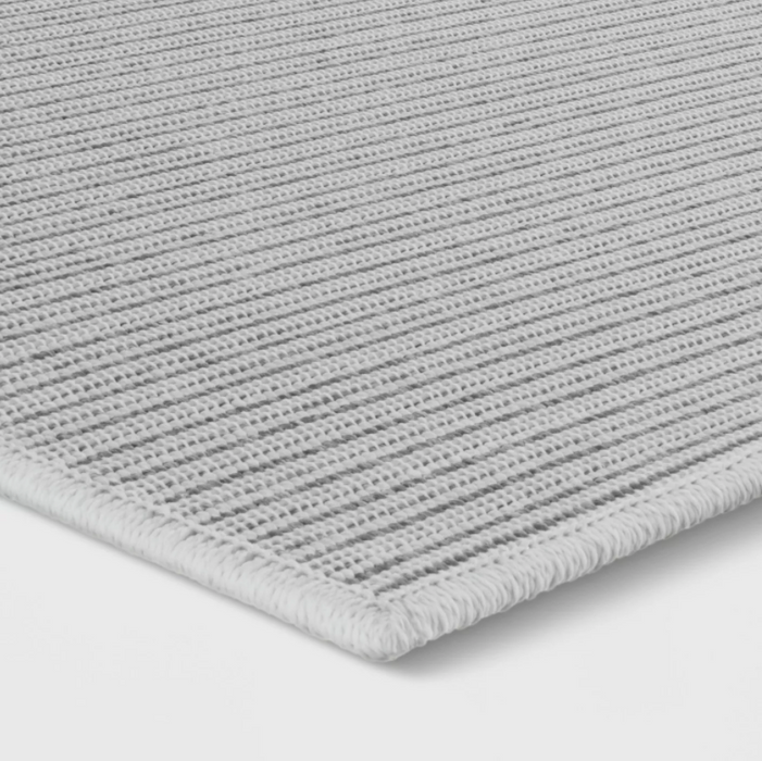 "Size 4'X5'5"" Stripe Woven Area Rug Gray - Made By Design™"
