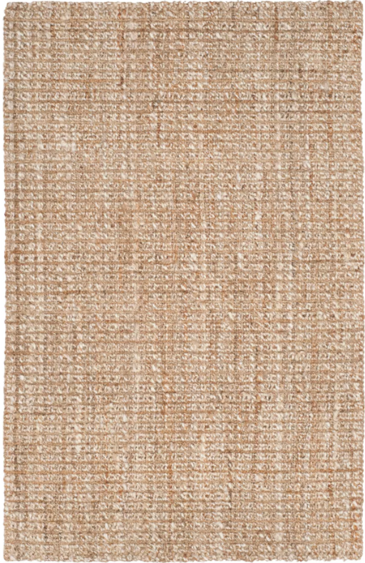Size 4'x6' Hilma Solid Woven Fiber Rug Natural - Safavieh