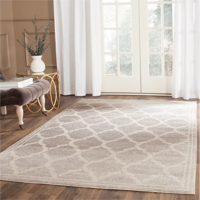 Size 4'X6' Color Light Gray/Ivory Janet Loomed Rug - Safavieh