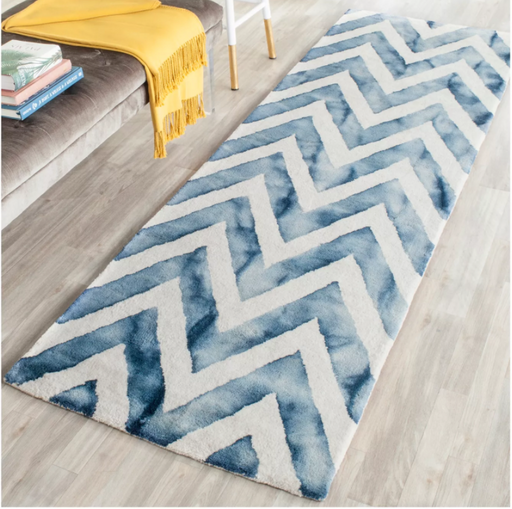 "Size 2'3""X6' Color Ivory/Navy Carl Runner Rug - Safavieh"