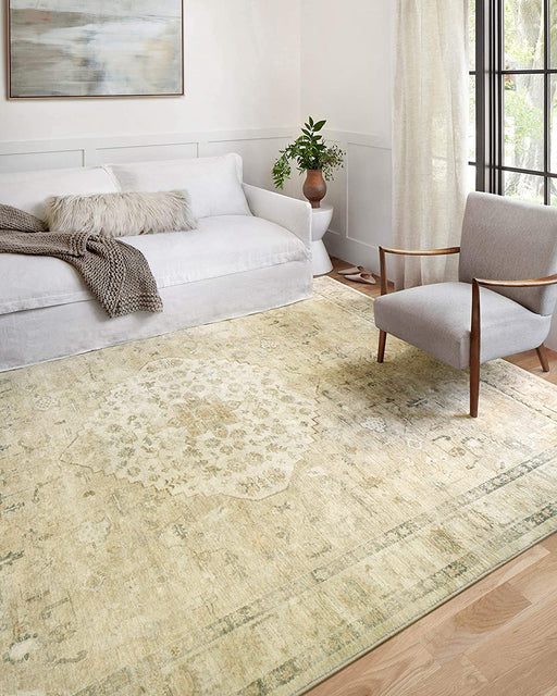 "Size 2'-2"" x 3'-8"" Loloi II Rosette Sand / Ivory, Traditional Accent Rug"