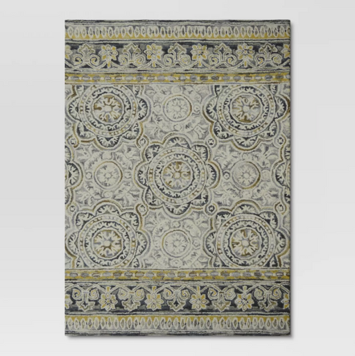 Size 5'X7' Color Neutral Floral Belfast Tufted Rug - Threshold™