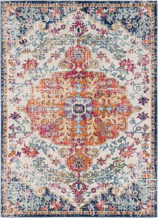 8'x10' Hillsby Oriental Blue/Orange Area Rug By Mistana™