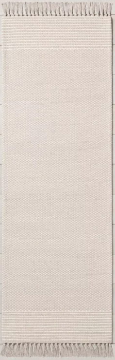 "Color Twilight Taupe Size 2'4"" x 7' Runner  Textured Border Stripe Area Rug - Hearth & Hand™ with Magnolia"