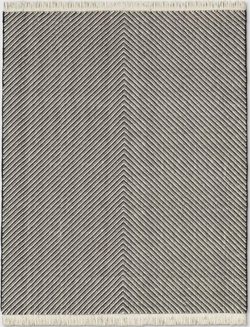 Size 9'X12' Color Black/White Chevron Woven Area Rug - Project 62™