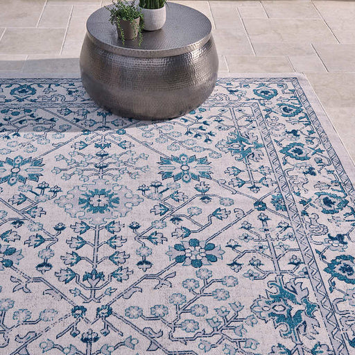 Rug Size : 7 ft. 10 in. x 10 ft. Color : Blue Venice Indoor/Outdoor Area Rug Collection, Gatsby