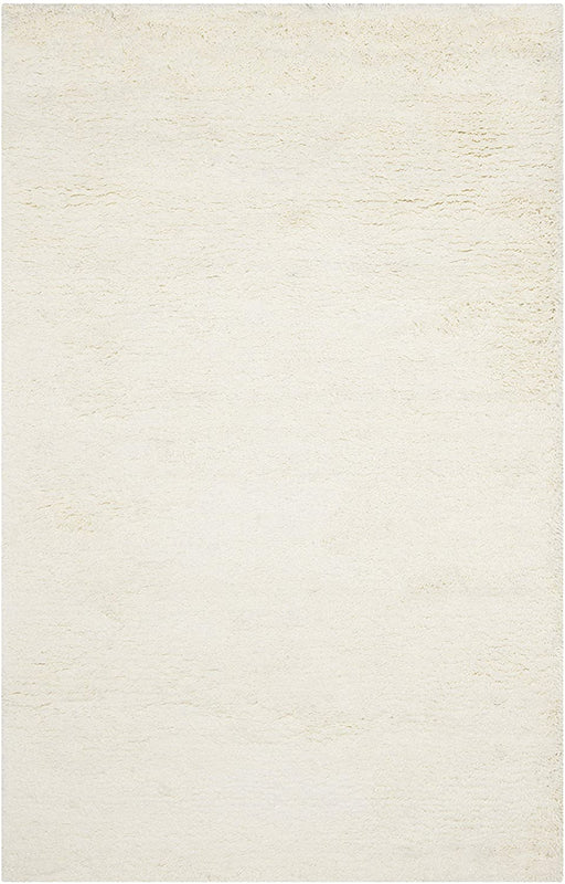 Safavieh Ultra Classic Shag Collection Handmade 2.25-inch Thick Area Rug, 7' x 10', White