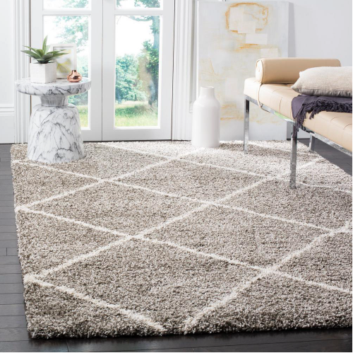 Hudson Shag Gray/Ivory 9 ft. x 12 ft. Area Rug by Safavieh