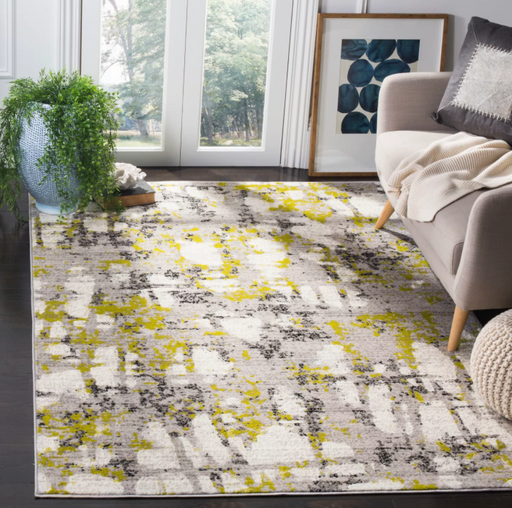 Size 8'X10' Color Gray/Green Caylee Loomed Rug - Safavieh