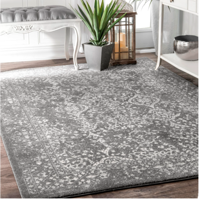 Odell Distressed Persian Silver 12 ft. x 15 ft. Area Rug by nuLOOM