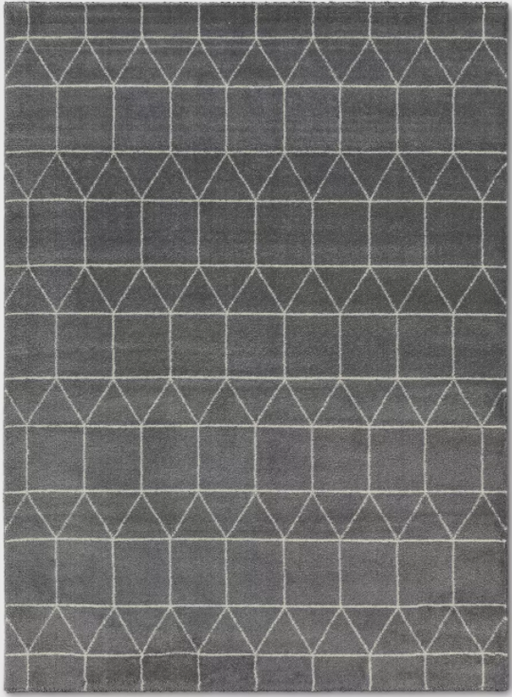 Size 5'X7' Color Charcoal Heather Elle Linear Grid Rugs - Project 62™