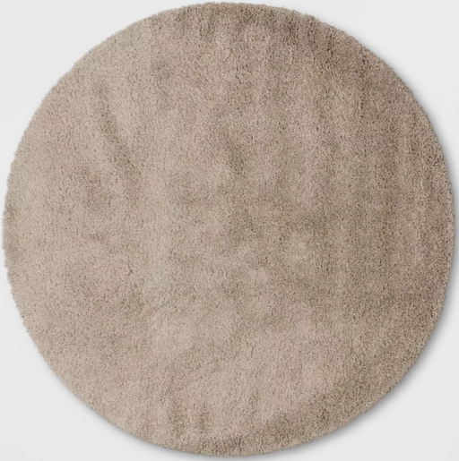 Size 8' Round Color Tan Eyelash Woven Shag Rug - Project 62™