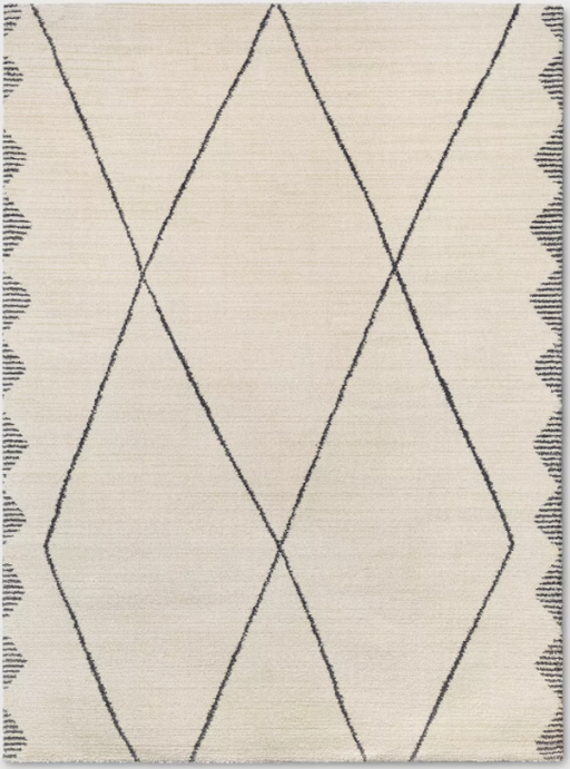 "Size 9'2""X12' Color Cream Glacier Diamond Woven Runner Rug - Project 62™"