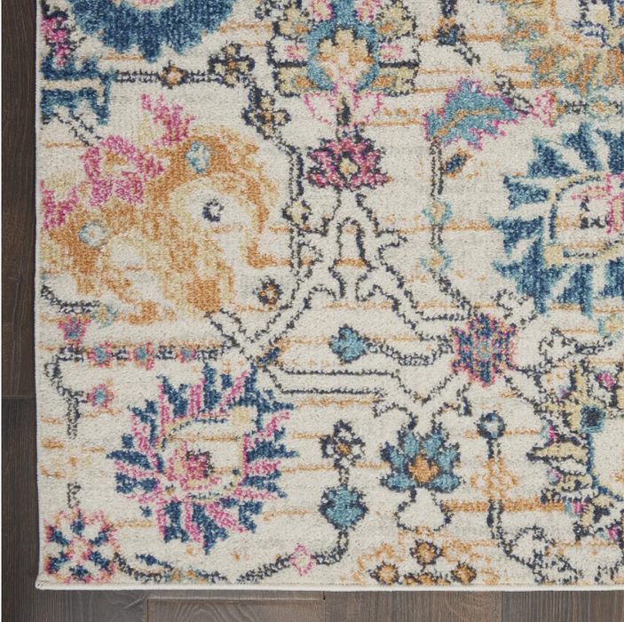 Size 8' x 10' Color Ivory/Multi Nourison Passion Indoor Area Rug