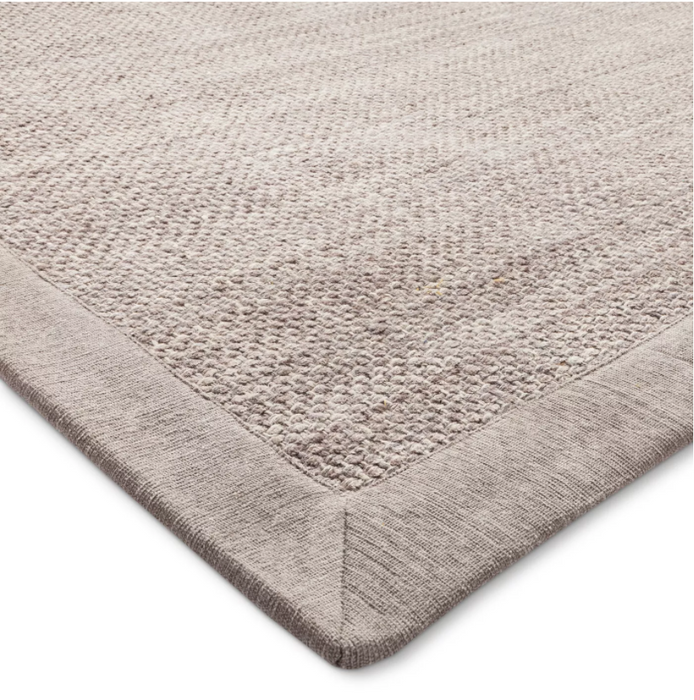 Size 9'X12' Color Light Gray Solid Woven Border Rug - Threshold™