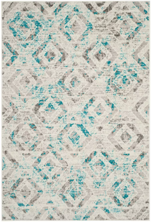 "Size 5'1""X7'6"" Color Ivory/Blue Kylee Loomed Rug - Safavieh"