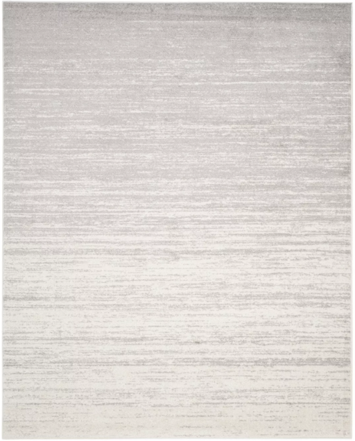 Size 10'X14' Color Ivory/Silver Solid Loomed Area Rug - Safavieh