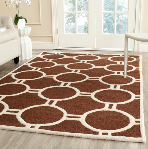 4'X6' Color Dark Brown/Ivory Sullivan Rug - Safavieh