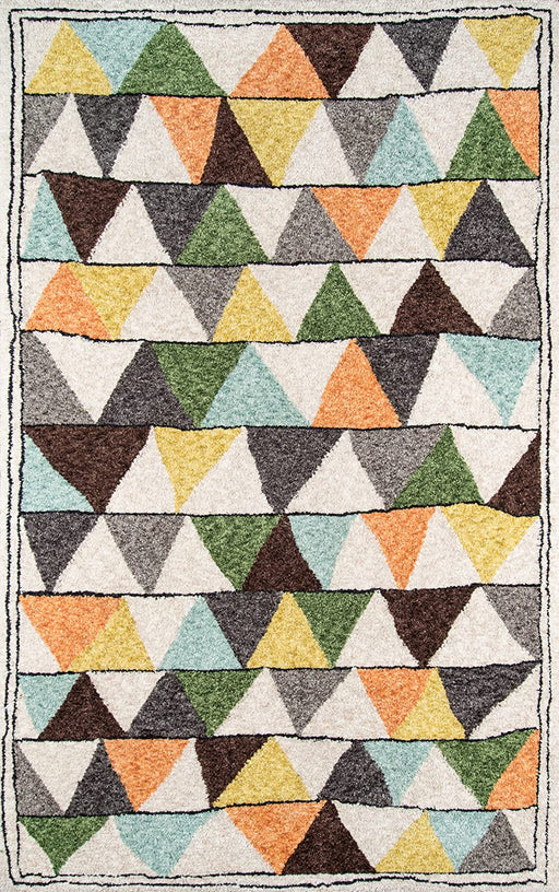 4x6 Multicolor Novogratz Bungalow Collection Tri Area Rug
