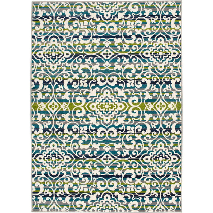 Bazaar Macabee Multi 5 ft. x 7 ft. Medallion Polypropylene Area Rug