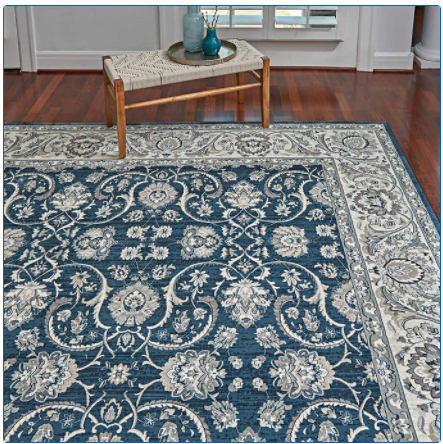 "Rug Size : 5'3"" x 7'5"" Color : Blue Thomasville Timeless Classic Rug Collection, Alden"