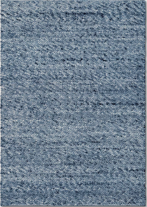 Size 7'X10' Color Indigo Chunky Knit Wool Woven Rug - Project 62™