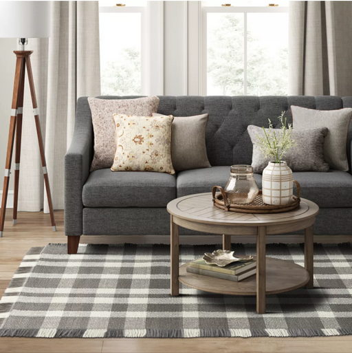 Size 5'X7' Color Gray Wool Buffalo Plaid Rug - Threshold™