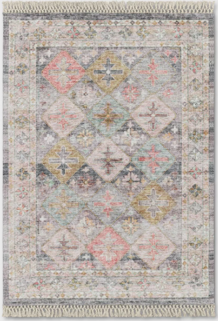 Size 5'x7' Geometric Printed Tile Persian Rug - Opalhouse™