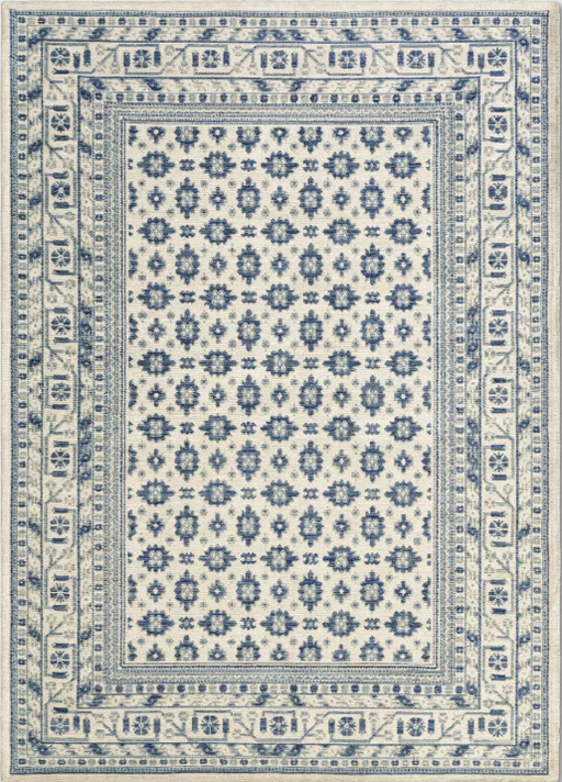 Size 5'X7' Color Ivory Indoor/Outdoor Floral Woven Area Rug - Threshold™
