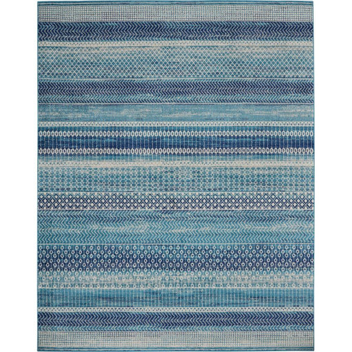 Passion Navy Blue 8 ft. x 10 ft. Moroccan Polypropylene Area Rug by Nourison