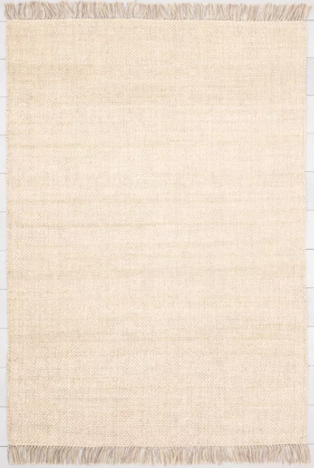 Size 9'x12' Bleached Jute Rug with Fringe - Hearth & Hand™ with Magnolia