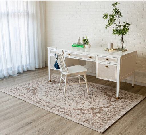 5x8 Color Beige AREA RUG by Erin Gates by Momeni