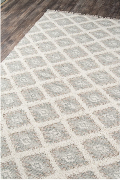 5' x 8' Momeni Harper Hand Woven Wool Contemporary Geometric Area Rug - Grey