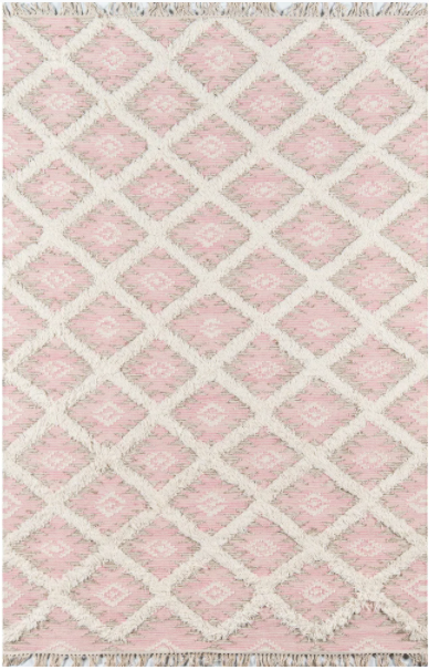 5x8 Pink Momeni Harper Hand Woven Wool Contemporary Geometric Area Rug