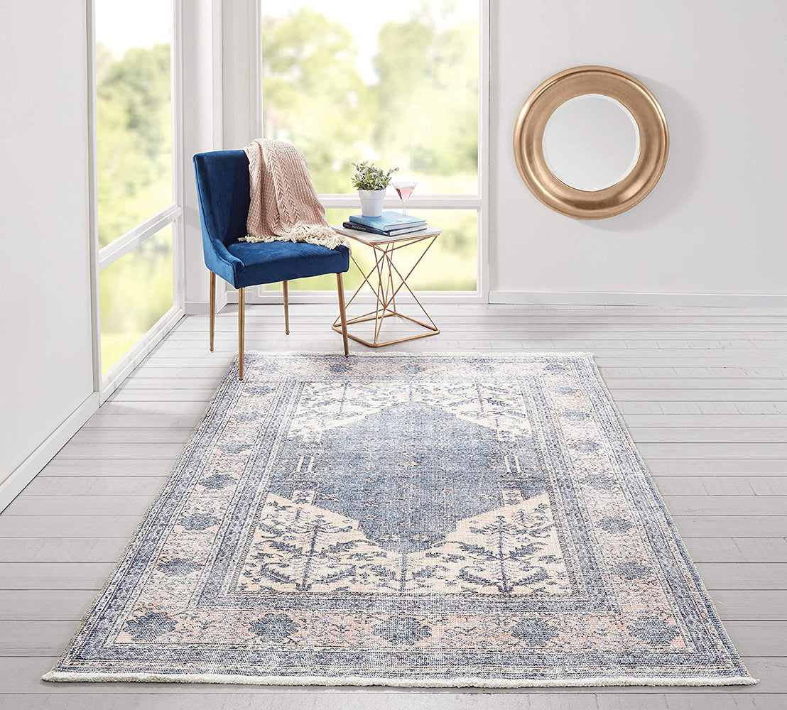 5x8 Momeni Helena Medallion Denim Area Rug