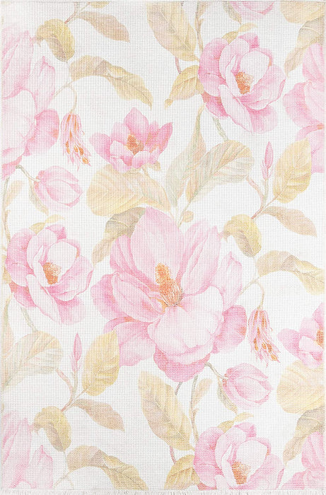 5' X 8' Floral Multi Colored Area Rug By Momeni Helena