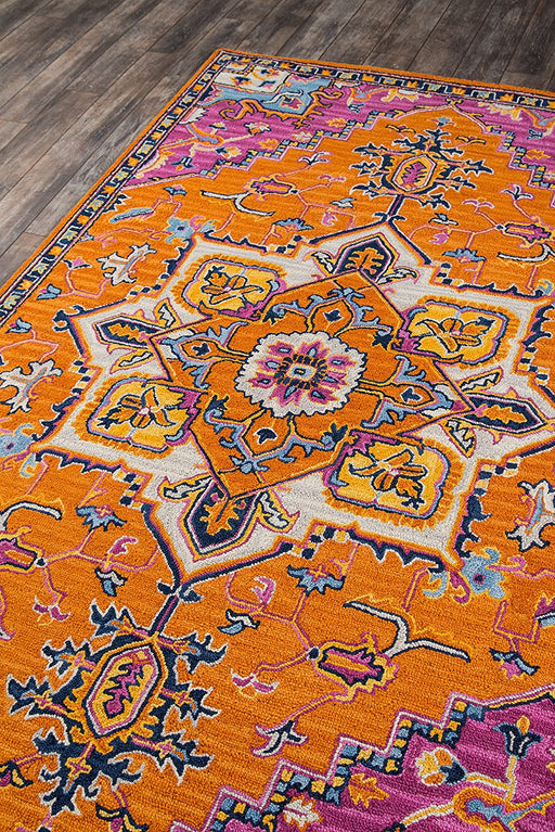 5' X 8', Orange Momeni Ibiza Wool Area Rug