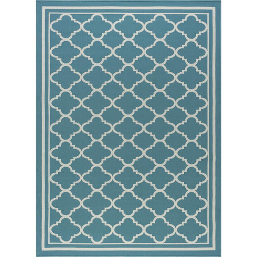 5x7 Tayse Garden City Cream/Turquoise Area Rug
