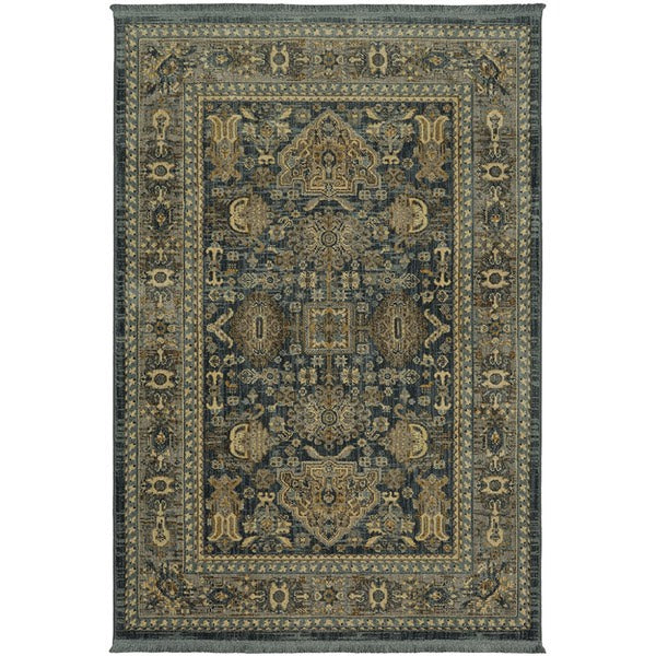 5x7 Persian Style With Fringe Detailing Area Rug