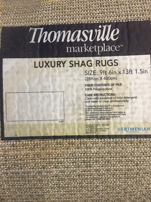 9x13 BEAUTIFUL! Thomasville Luxury Shag Area Rug in Beautiful Sandy Beige