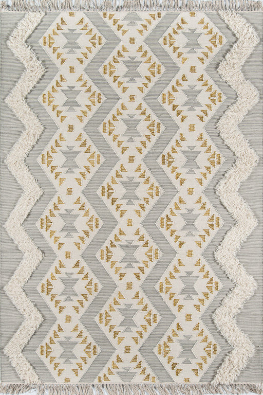 5x8 Momeni Indio IND-1 Grey Area Rug by Novogratz