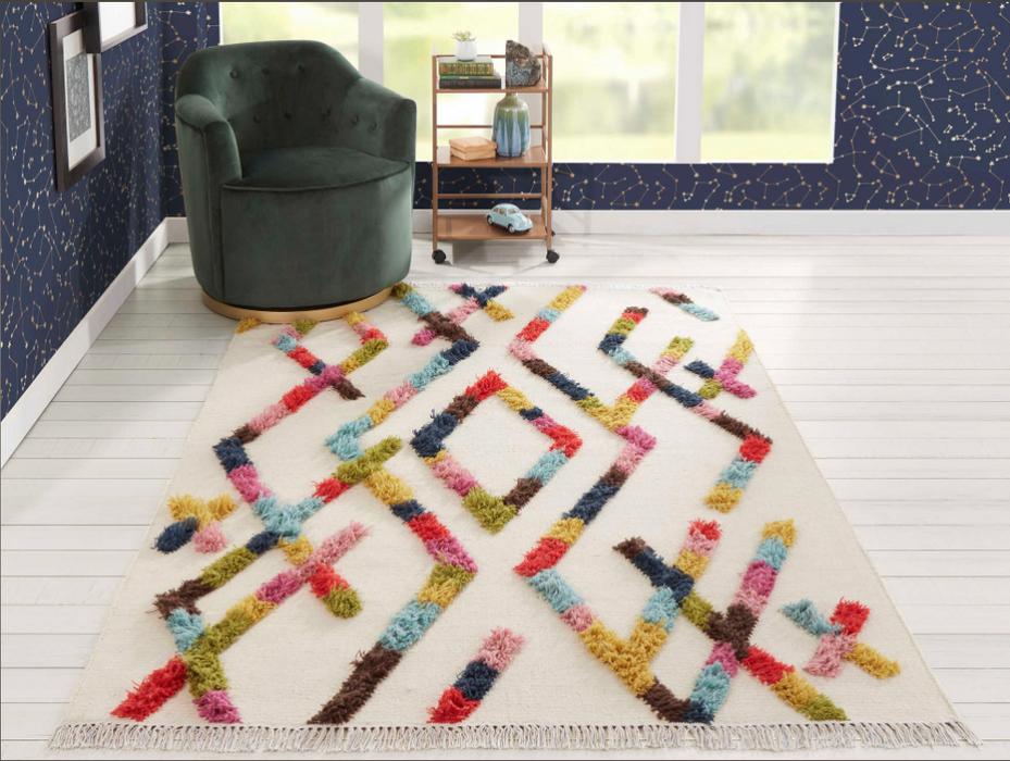 5x8 Momeni Indio Multi Rectangular Area Rug