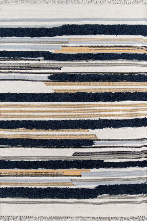 5x8 Color Navy Momeni Indio Area Rug by Novogratz