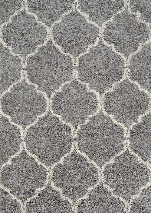 4'x6' Color Grey Ultra Thick Pile Shag Area Rug By Momeni Rugs Maya Collection