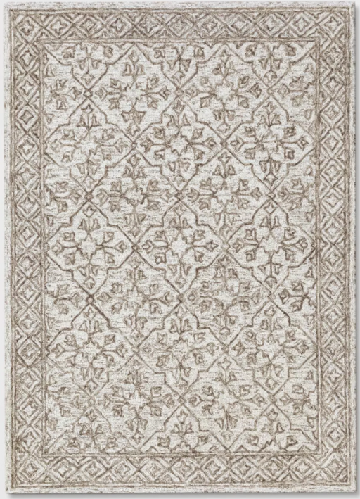 Size 5'X7' Color Tan Argyle Tufted Area Rug - Threshold™