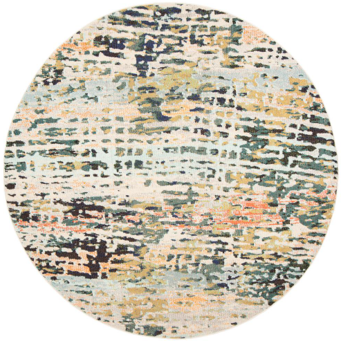 Madison Beige/Navy 7 ft. x 7 ft. Round Area Rug by Safavieh