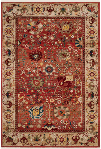Kashan Red/Beige 5 ft. 1 in. x 7 ft. 5 in. Area Rug by Safavieh