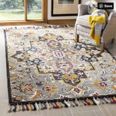 Size 4' x 6' Color Grey/Charcoal Aspen Hand Tufted Rug - Safavieh